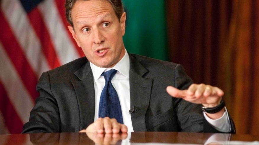 "Nov. 30, 2012:Treasury Secretary Timothy Geithner answering questions about averting the ""fiscal cliff"" on the December 2nd edition of Face the Nation."