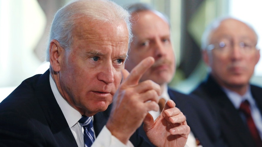 FILE: January 10, 2013: Vice President Joe Biden at a meeting on curbing gun violence at the White House in Washington, D.C.