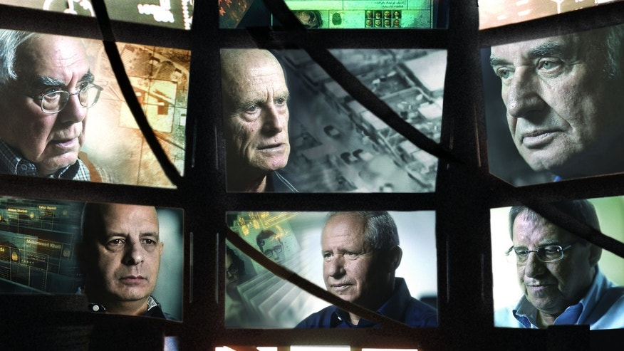 "This publicity photo released by Sony Pictures Classics shows former heads of the Israeli security agency, Shin Bet, from left top, Avraham Shalom, Ami Ayalon and Yaakov Peri,  from left bottom,Yuval Diskin, Avi Dichter and Carmi Gillon in Director Dror Moreh's documentary film, ""The Gatekeepers."" The Israeli documentary film is nominated for an Academy Award. The 85th Academy Awards will be held on Sunday, Feb. 24, in Los Angeles. (AP Photo/Sony Pictures Classics, Mika Moreh)"