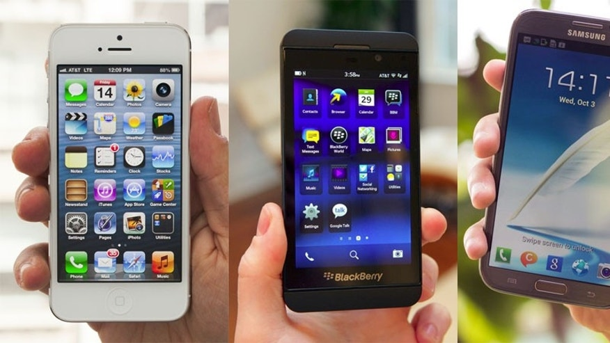 The iPhone (left) is no longer the dominant smartphone it once was as the competition has caught up. Samsung (right), HTC, LG and others are all building excellent alternatives. Even BlackBerry (middle), the once smartphone incumbent Apple replaced is making a comeback with the well received Z10.