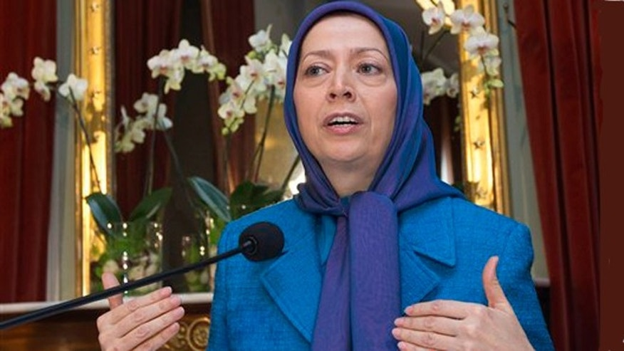 Feb. 27, 2013: Maryam Rajavi, President of the National Council of Resistance of Iran, speaks at a press conference at the Palais Eynard, in Geneva, Switzerland.