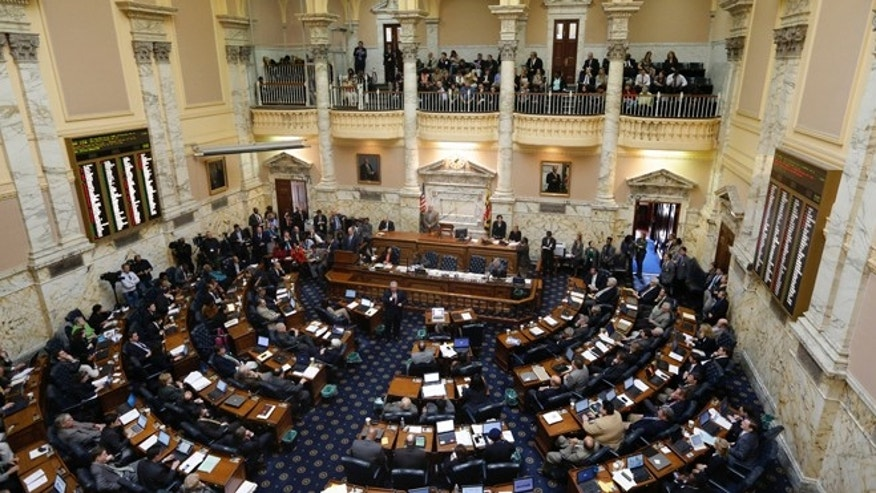 March 15, 2013: Members of the Maryland House of Delegates debate a measure to ban capital punishment in Annapolis, Md.