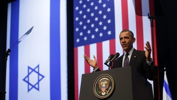 President Barack Obama gestures during his speech at the Jerusalem Convention Center in Jerusalem, Israel, Thursday, March 21, 2013, (AP Photo/Pablo Martinez Monsivais)