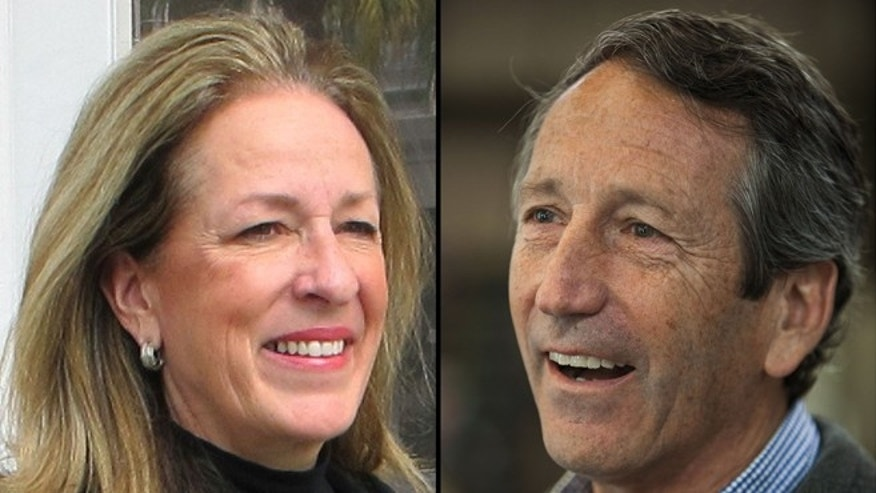 FILE: April 22, 2013: Elizabeth Colbert Busch and former South Carolina Gov. Mark Sanford.