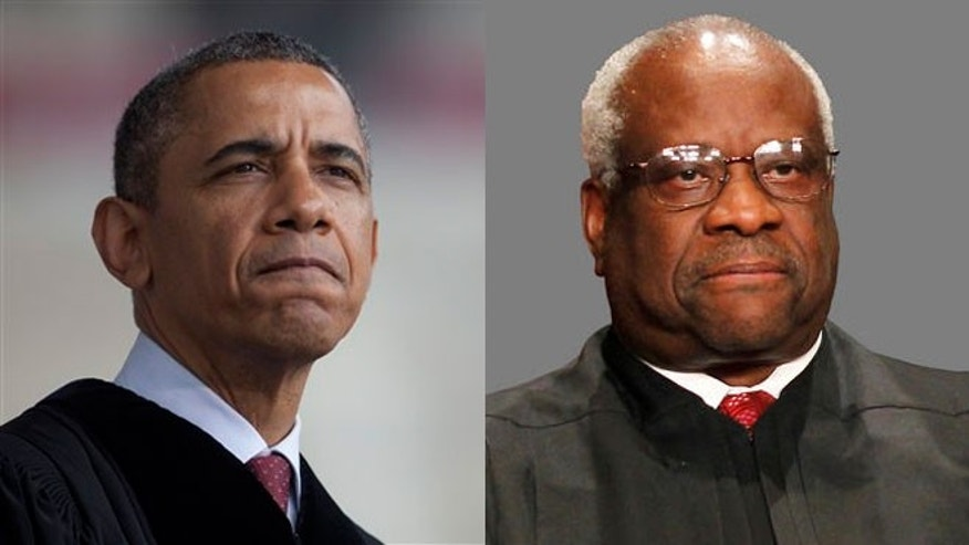 President Obama, Supreme Court Justice Clarence Thomas
