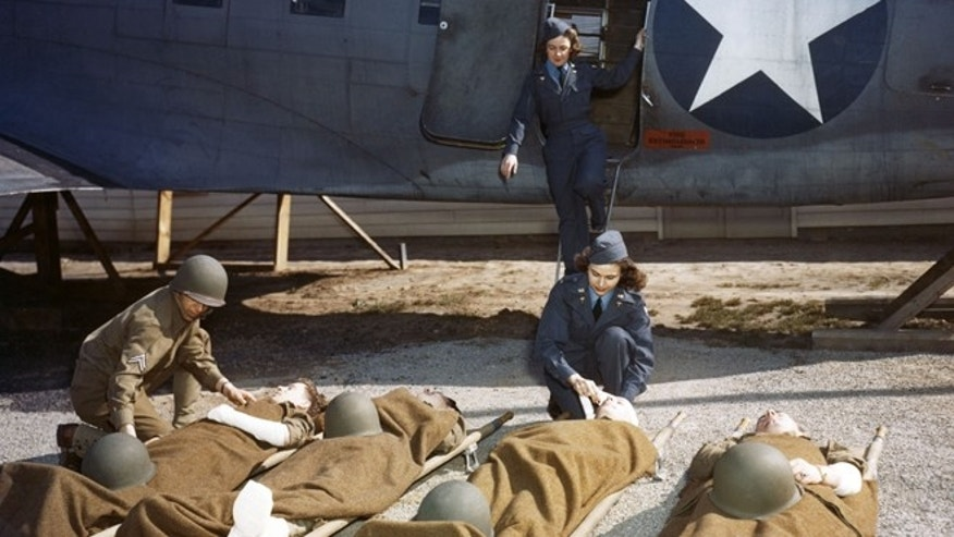 Seventeen flight nurses, all of whom had trained at the School of Air Evacuation at Bowman Field, Ky., like these nurses, were among the more than 500 military women who died in service during World War II.