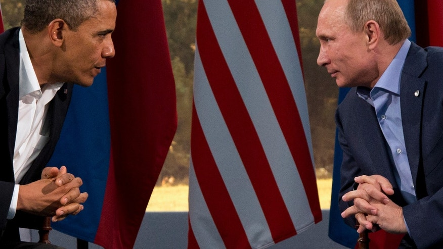 AP10ThingsToSee - President Barack Obama meets with Russian President Vladimir Putin in Enniskillen, Northern Ireland, Monday, June 17, 2013. Obama and Putin discussed the ongoing conflict in Syria during their bilateral meeting. (AP Photo/Evan Vucci, File)