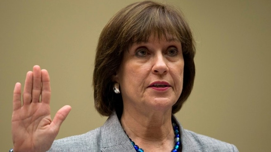 May 22, 2013: Ex-IRS official Lois Lerner is sworn in on Capitol Hill, in Washington, D.C.