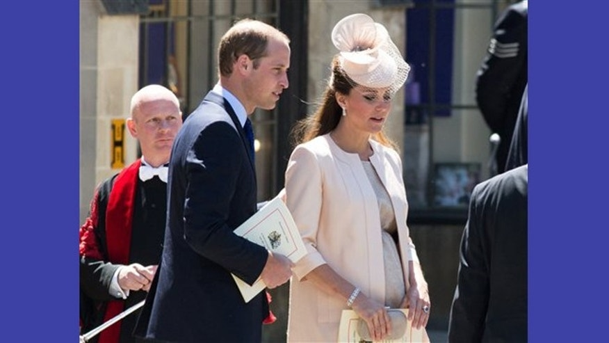 FILE - June 4, 2013: Prince William and Kate, The Duchess of Cambridge, attend at a celebratory service for the 60th anniversary of the Queen's Coronation at Westminster Abby in London.