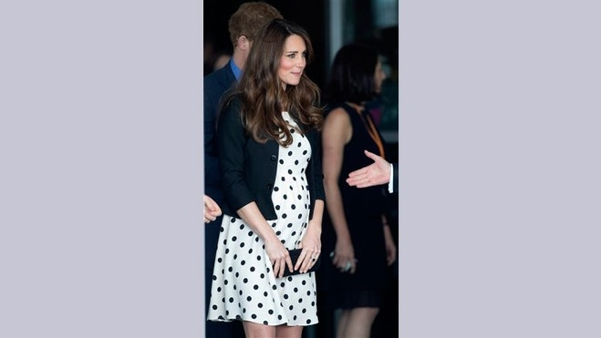 "FILE -- April 26, 2013: Kate the Duchess of Cambridge leaves after attending the inauguration of ""Warner Bros. Studios Leavesden"" near Watford, approximately 18 miles north west of central London."
