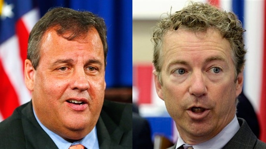 New Jersey Gov. Chris Christie (left) and Kentucky Sen. Rand Paul (right)