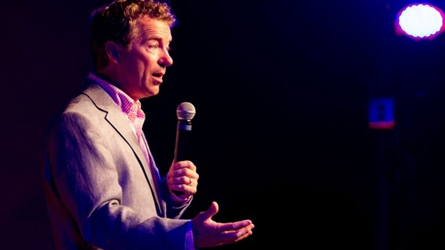 July 28, 2013: Republican U.S. Sen. Rand Paul of Kentucky speaks at a fundraiser for state Sen. Jack Johnson in Franklin, Tenn.