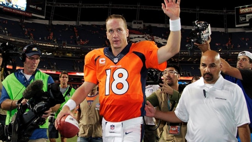 Sept. 5: Peyton Manning threw a record-tying seven touchdowns.