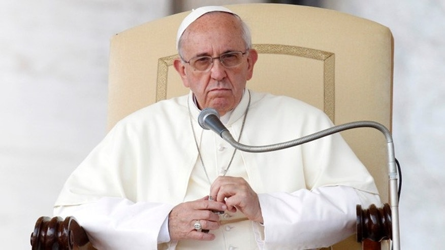 Sept. 18, 2013: Pope Francis looks on during his weekly general audience in St. Peter's Square at the Vatican.