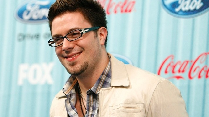 "Performer Danny Gokey poses at the party for the 12 finalists of the television show ""American Idol"" in Los Angeles March 5, 2009."