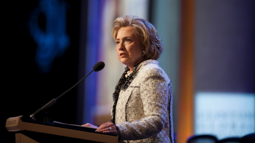 Hillary Clinton during the annual Clinton Global Initiative meeting on September 25, 2013 in New York City.