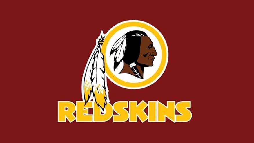 The logo of the Washington Redskins.