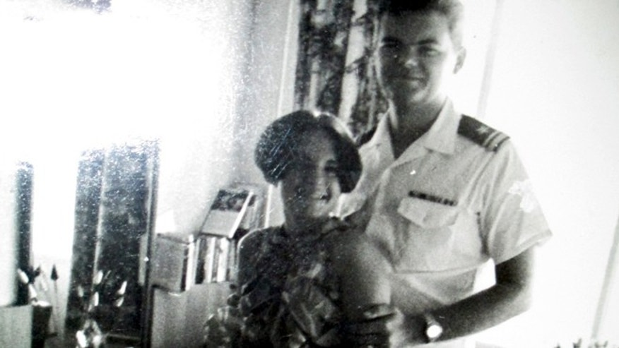 Mom and Dad during his Navy service in Saigon, 1966. (BROOKE LEFFERTS)