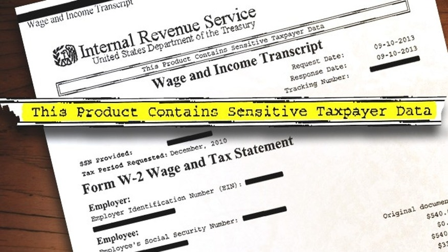 "The 10-page document, a portion of which is shown above, was addressed to a certified public accountant in Thousand Oaks, Calif., but was erroneously sent to a fax machine at a tire supply warehouse in the same town. It contains ""wage and income"" data from 2010-12 of a Simi Valley man whose sensitive data was seemingly exposed without his knowledge. (FoxNews.com)"