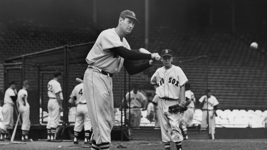 Baseball legend Ted Williams circa 1945.
