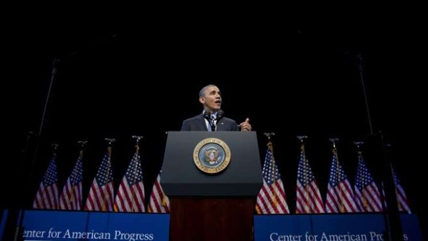 President Obama speaks about the economy and growing economic inequality, Wednesday, Dec. 4, 2013.