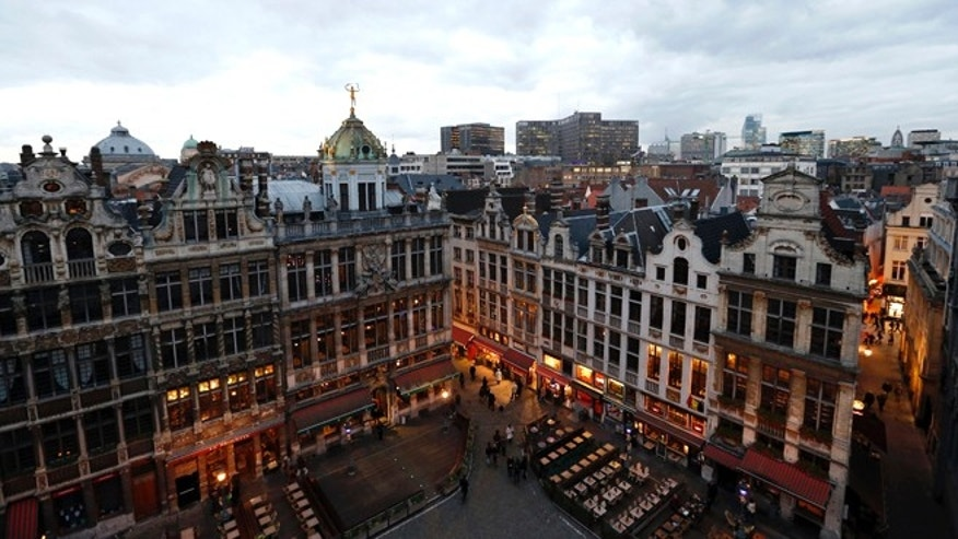 A view of the Brussels' Grand Place.