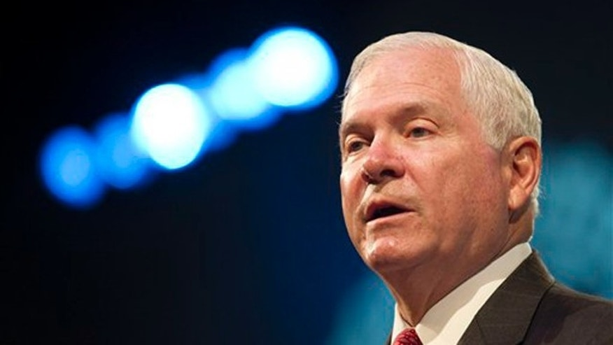 FILE: Aug. 31, 2010: Secretary of Defense Robert Gates speaks at the American Legion convention in Milwaukee, Wis.