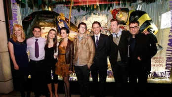 NEW YORK - NOVEMBER 16:  2009 cast of SNL Abby Elliott, Bobby Moynihan, Nasim Pedrad, Jenny Slate, Andy Samberg, Seth Meyers, Jason Sudeikis and Fred Armisen attend the Barneys New York unveiling of the 2009 Holiday Window Celebrating 35 Years of SNL at Barneys New York on November 16, 2009 in New York City.  (Photo by Amy Sussman/Getty Images for Barneys)