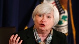 Federal Reserve Chair Janet Yellen talks at a news conference following the March 2014 Federal Open Market Committee meeting while at the Board of Governors of the Federal Reserve Sysytem in Washington, March 19, 2014.       REUTERS/Larry Downing   (UNITED STATES - Tags: POLITICS BUSINESS) - RTR3HSE3
