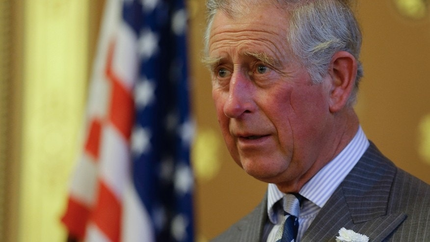 Britain's Prince Charles, Honorary Patron, Association of Marshall Scholars makes a speech at a reception to celebrate the 60th Anniversary of The Marshall Scholarships at the Foreign and Commonwealth Office, in London, Thursday, May 8, 2014.