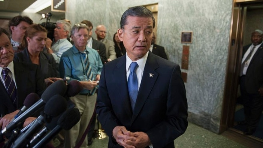 Veterans Affairs Secretary Eric Shinseki on Capitol Hill in Washington, Thursday, May 15, 2014.