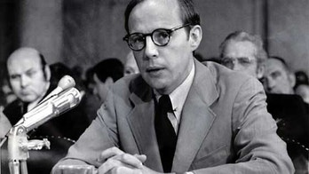 John Dean, former counsel to President Nixon, testifies during Senate Watergate hearing.