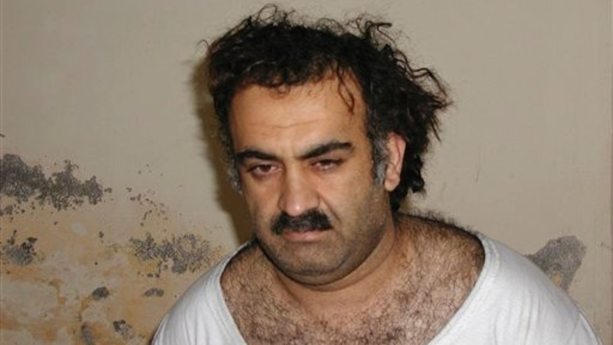 March 2003: Khalid Sheikh Mohammed is seen shortly after his capture during a raid in Pakistan.