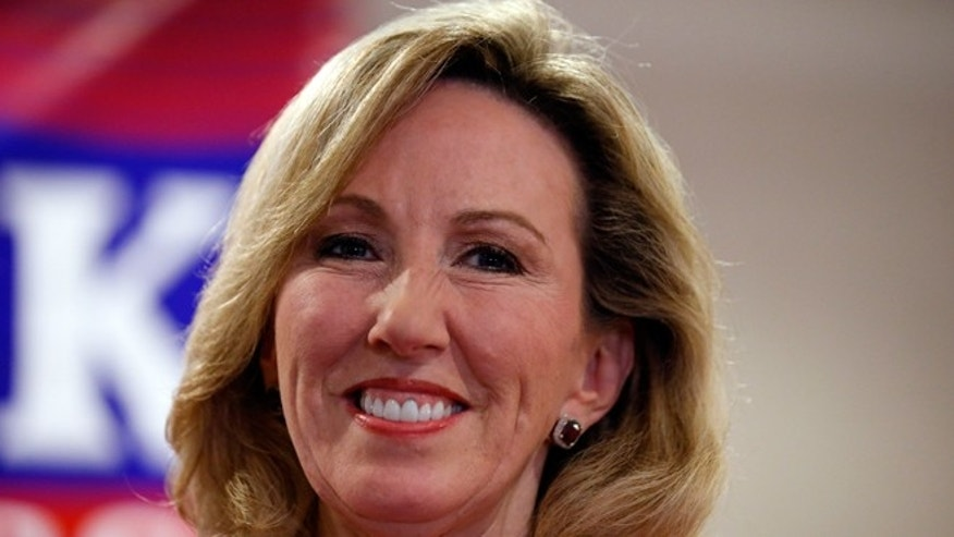 FILE - Nov. 4, 2014: Then-Virginia Republican Congressional candidate, now Rep.-elect Barbara Comstock is seen at her election night party in Ashburn, Va.