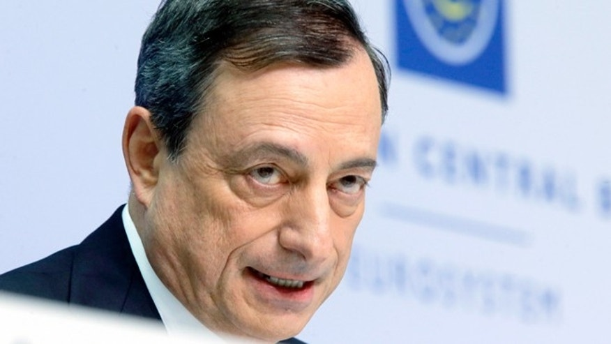 Jan. 22, 2015: European Central Bank President Mario Draghi speaks during a news conference in Frankfurt, Germany, following a meeting of the ECB governing council.
