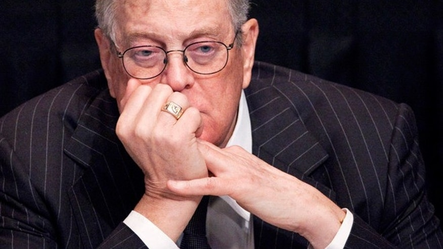 FILE --  April 11, 2011: David Koch, executive vice president of Koch Industries, attends a meeting in New York, NY.