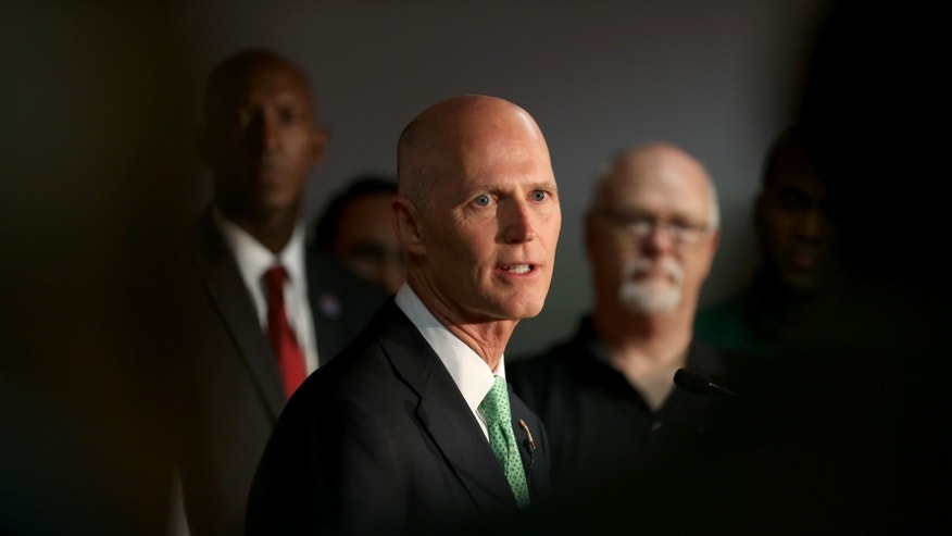 Florida Governor Rick Scott on January 23, 2015 in Miramar, Florida.