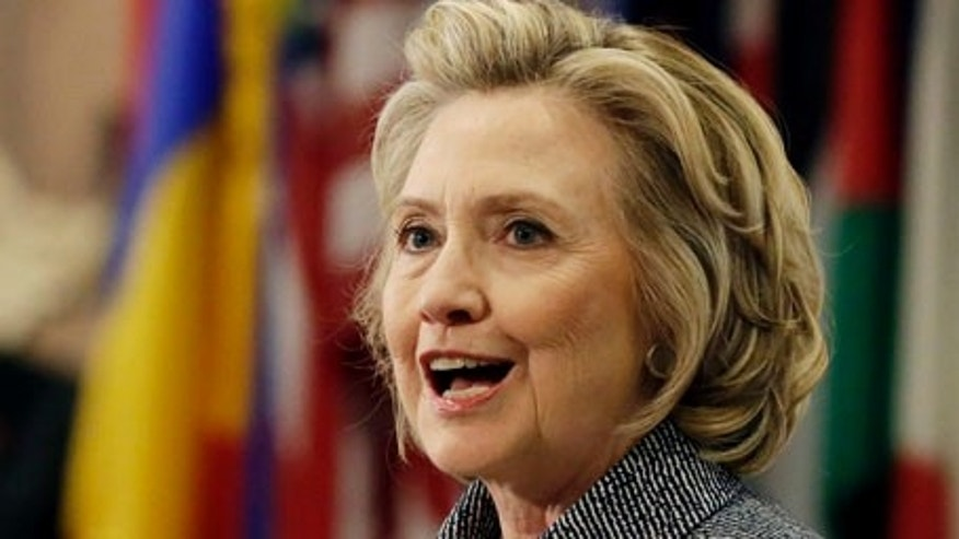 "Hillary Rodham Clinton answers questions at a news conference at the United Nations, Tuesday, March 10, 2015.  Clinton conceded Tuesday that she should have used a government email to conduct business as secretary of state, saying her decision was simply a matter of ""convenience.""  (AP Photo/Richard Drew)"