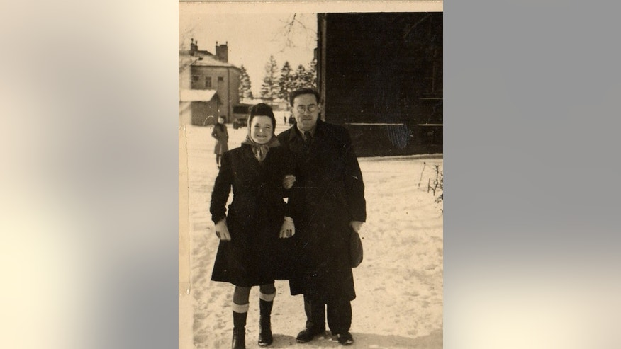 The author's parents, Sally and Morris Gastfreund, in a photo that was taken after they were reunited in the Landsberg Displaced Persons Camp in Germany.