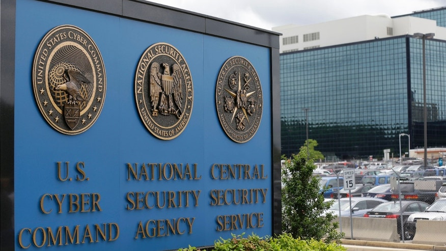 FILE -- June 6, 2013: The sign outside the National Security Agency (NSA) campus in Fort Meade, Md. (AP Photo/Patrick Semansky)