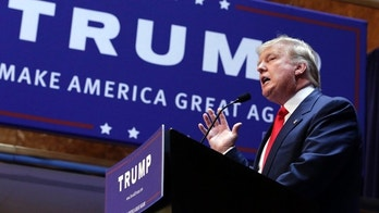 FILE - In this June 16, 2015 file photo, Donald Trump announces he will run for president of the United States, in the lobby of Trump Tower in New York. (AP Photo/Richard Drew, File)