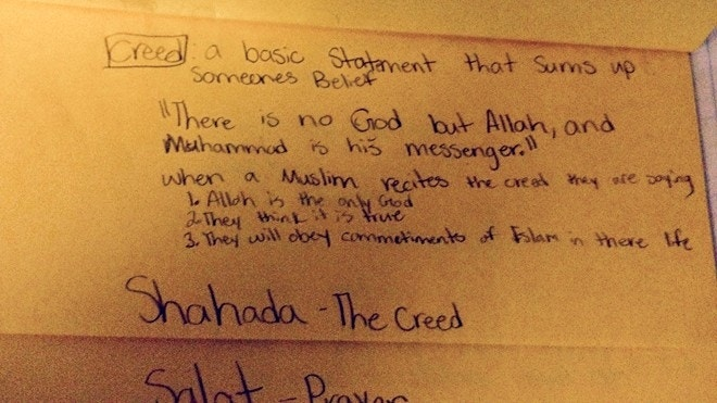 'There is no God but Allah'? School accused of Islamic indoctrination
