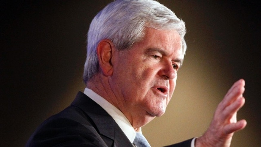 FILE -- June 16, 2011: Former House Speaker Newt Gingrich speaks at the Republican Leadership Conference in New Orleans.