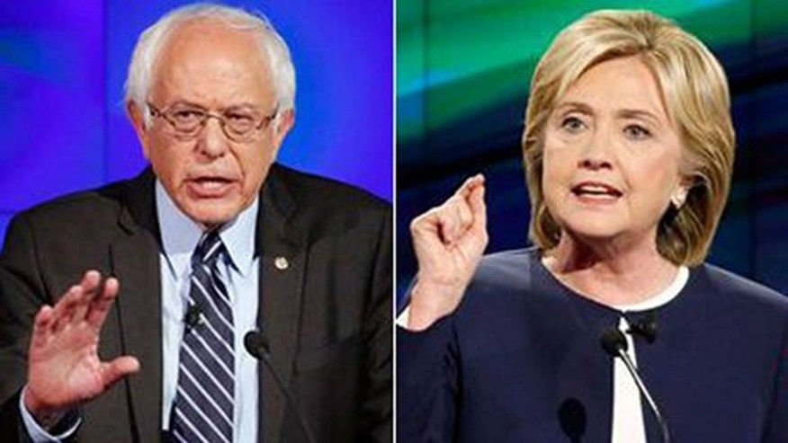 Vermont Independent Sen. Bernard Sanders and former Secretary of State Hillary Clinton are shown in this composite photo.