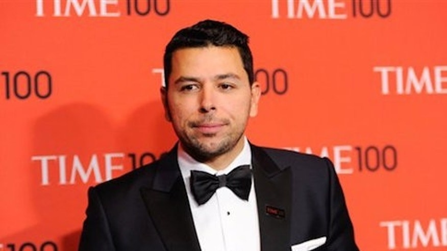 Ayman Mohyeldin arrives at the 2014 TIME 100 Gala held at Frederick P. Rose Hall, Jazz at Lincoln Center on Tuesday, April 29, 2014 in New York. (Photo by Evan Agostini/Invision/AP)