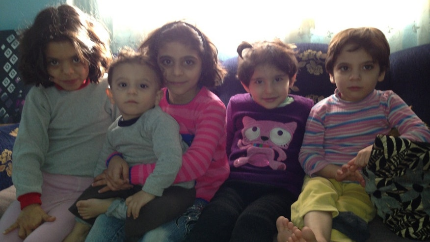 Some of the children the author met on her visit with Syrian refugees in Izmir, Turkey. (Courtesy of the author)