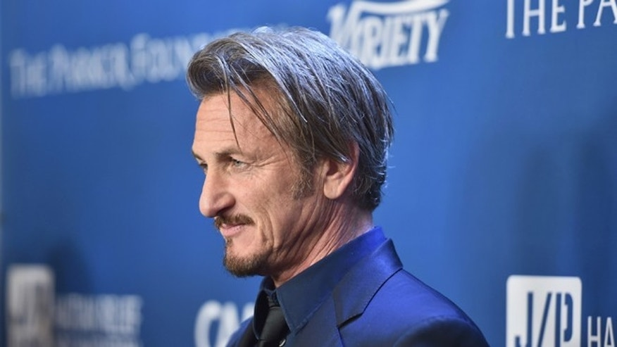 Sean Penn at Montage Hotel on January 9, 2016 in Beverly Hills, California.
