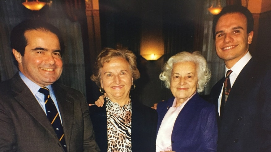 Justice Antonin Scalia, two aunts, author Arthur Aidala (Courtesy of the author)