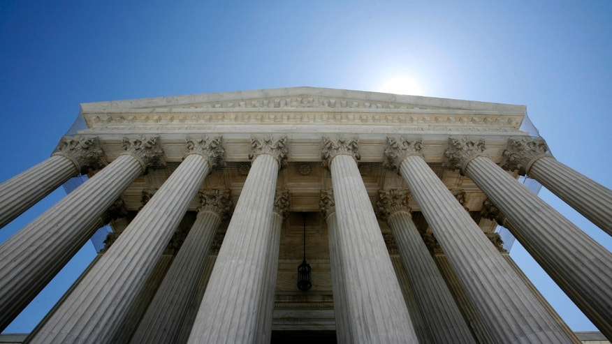 The U.S. Supreme Court building seen in Washington.
