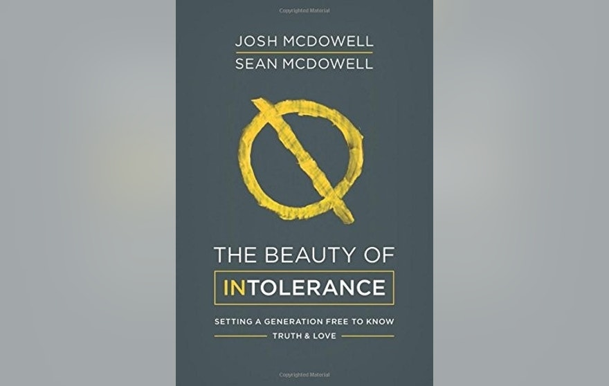 Book cover the beauty of intolerance